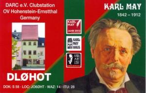 """""""Karl May""""-QSL-Karte"""